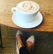 feet and coffee